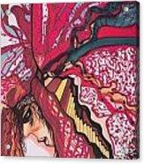 Backsliding Acrylic Print by Adrianne  Jezin