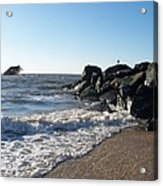 Backwash On Sunset Beach Cape May Acrylic Print