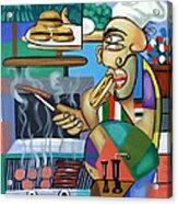 Backyard Chef Acrylic Print by Anthony Falbo