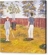 Backyard Cricket Under The Hot Australian Sun Acrylic Print