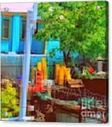 Backyard In Bright Colors Acrylic Print