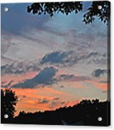 Backyard Sunset Acrylic Print
