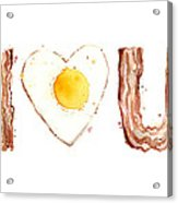Bacon And Egg Love Acrylic Print