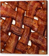 Bacon Weave Square Acrylic Print