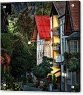 Bad Hindelang Austria At Dusk Acrylic Print