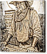 Bad Times Pilgrim Gotta Be Ready Acrylic Print by Randall Branham