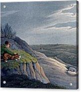 Badger Catching, 1820 Acrylic Print