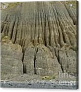 Badland Erosion Of Soft Conglomerate Sediment Acrylic Print