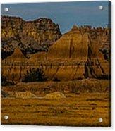 Badlands In Color Acrylic Print