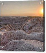 Badlands Overlook Sunset Acrylic Print