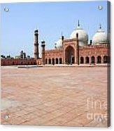 Badshahi Mosque In Lahore Pakistan Acrylic Print