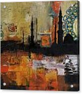 Badshahi Mosque Motives Acrylic Print