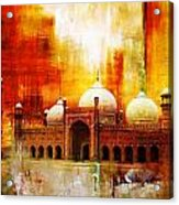 Badshahi Mosque Or The Royal Mosque Acrylic Print