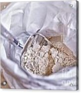 Bag Of Flour With Scoop Acrylic Print