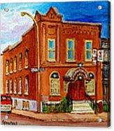 Bagg And Clark Street Synagogue Acrylic Print