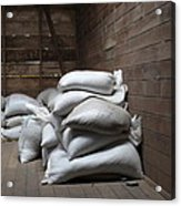 Bags Of Coffee Beans Acrylic Print