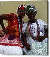 Bahian Ladies Of Salvador Brazil 3 Acrylic Print
