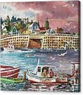 Bailey Island Cribstone Bridge Acrylic Print by Joy Nichols