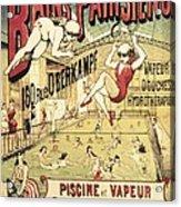 Bains Parisiens. Advertisment Marking Acrylic Print