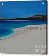Baja Beach With Fence Acrylic Print