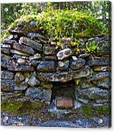 Bake Oven From 1884-5 In  Kicking Horse Campground In Yoho Np-bc Acrylic Print