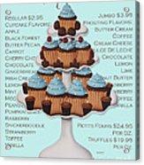 Baked Fresh Daily Aqua Background Acrylic Print