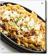 Baked Pasta With Meat And Cheese Acrylic Print