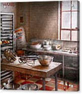 Baker - Kitchen - The Commercial Bakery  Acrylic Print by Mike Savad
