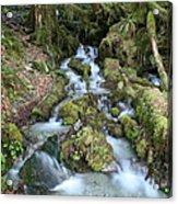 Baker Lake Steam And Waterfalls Acrylic Print