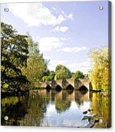 Bakewell Bridge - Over The River Wye Acrylic Print