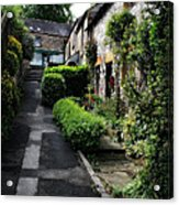 Bakewell Country Terrace Houses - Peak District - England Acrylic Print