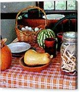 Baking A Squash And Pumpkin Pie Acrylic Print by Susan Savad