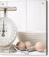 Baking Time Vintage Kitchen Scale Acrylic Print