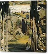 Bakst, L�on 1866-1924. Daphnis Et Acrylic Print by Everett