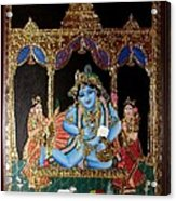 Balakrishna Acrylic Print by Jayashree
