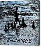 Balance And Zen Acrylic Print