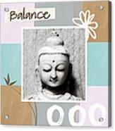 Balance- Zen Art Acrylic Print