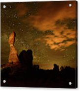 Balanced Rock And The Milky Way Acrylic Print