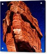 Balanced Rock At Garden Of The Gods Acrylic Print