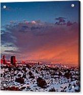 Balanced Rock At Sunset Acrylic Print