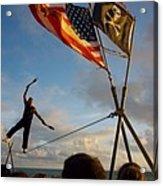 Balancing Act In Key West Acrylic Print