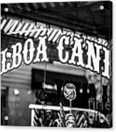 Balboa Candy Sign On Balboa Island Newport Beach Acrylic Print
