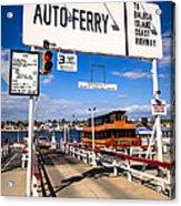 Balboa Island Auto Ferry In Newport Beach California Acrylic Print