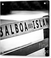 Balboa Island Bench In Newport Beach California Acrylic Print
