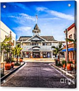Balboa Main Street In Newport Beach Picture Acrylic Print by Paul Velgos