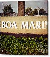 Balboa Marina Sign Newport Beach Picture Acrylic Print by Paul Velgos
