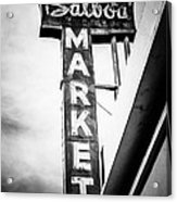Balboa Market Sign Orange County California Photo Acrylic Print