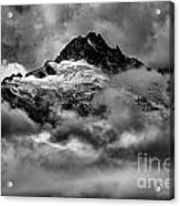 Balck And White Tantalus Peaks Acrylic Print