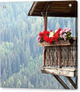 Balcony Overlooking The Forest Acrylic Print