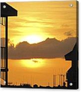 Key West Balcony Sunset Acrylic Print